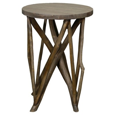 End Table Weathered Oak Grey - New Pacific Direct