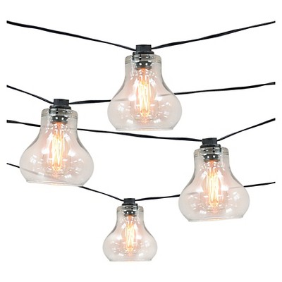 10ct Decorative String Lights-Glass Cover with Edison Bulb - Smith & Hawken™