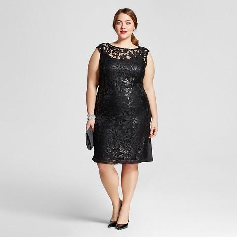 plus size v neck black attire