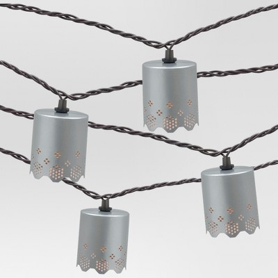 10ct Decorative String Lights Metal Round Cover - Threshold™