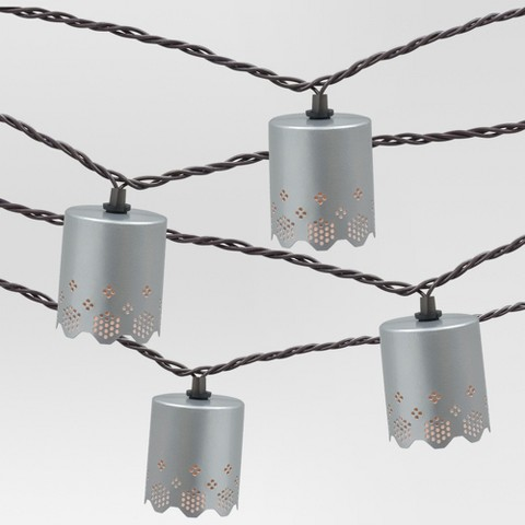 Metal Cap String Lights : 10ct Decorative String Lights Metal Round Cover ... : Target