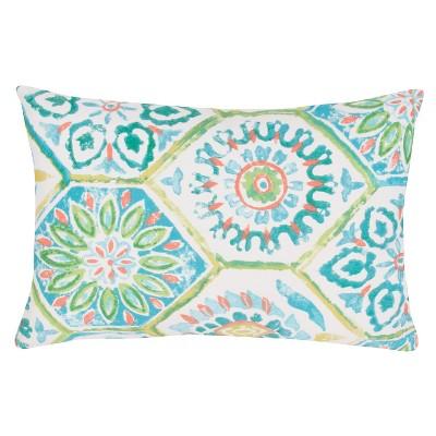 Jaipur Veranda Od Summer Breeze Blue/Green Decorative Pillow