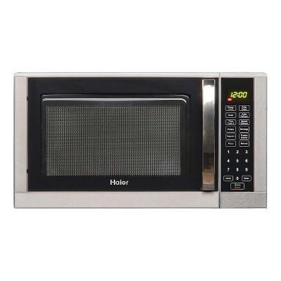 Haier 0.9 Cu. Ft. / 900 Watt Touch Microwave, Black/Stainless, HMC935SESS