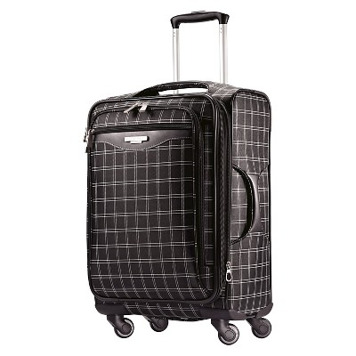 "American Tourister 20"" Carry On Luggage - Black Windowpane"