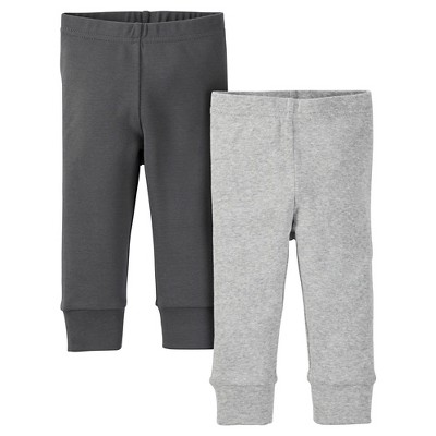 Just One You™ Made by Carter's® Baby 2-Pack Legging Pant - Gray NB