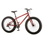 """Mongoose Men's Hitch 26"""" Fat Tire Bike- Red"""