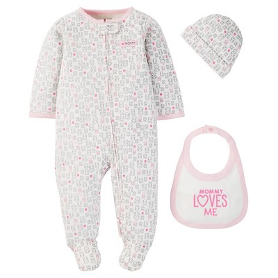 Just One You™ Made by Carter's® Baby Girls' 3-Piece Footed Sleeper - Pink 9 M