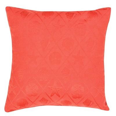 Jaipur Veranda Shell Trellis Red Decorative Pillow
