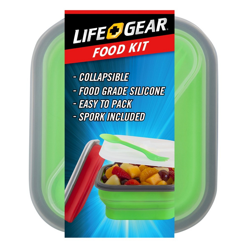 Life Gear Collapsible Dinner Set, Red