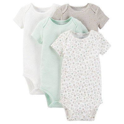 Just One You™ Made by Carter's® Baby 4-Pack Bodysuit - Green Preemie