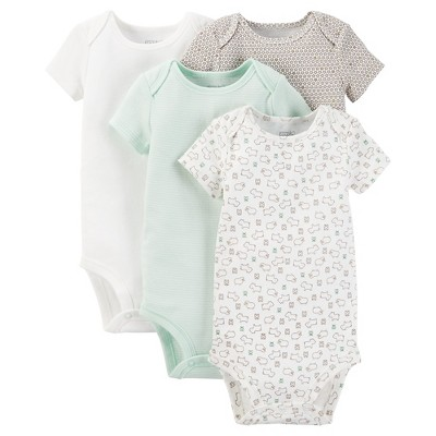 Just One You™ Made by Carter's® Baby 4-Pack Bodysuit - Green 9 M