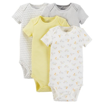 Just One You™ Made by Carter's® Baby 4-Pack Bodysuit - Yellow 3 M