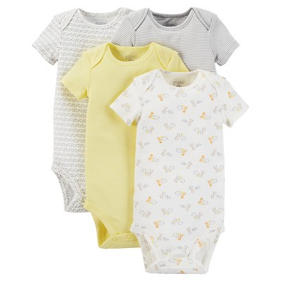 Just One You™ Made by Carter's® Baby 4-Pack Bodysuit - Yellow 9 M