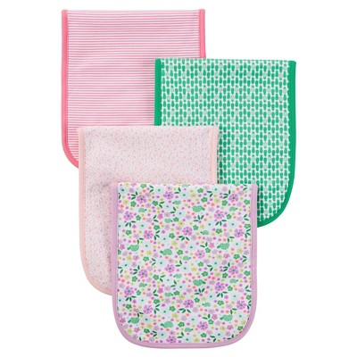Just One You™ Made by Carter's® Baby Girls' 4-Piece Burp Cloth Set - Pink