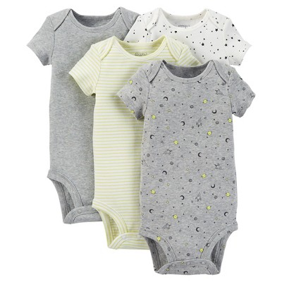 Just One You™ Made by Carter's® Baby Boys' 4-Pack Bodysuit - Green NB