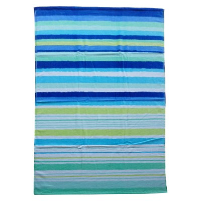 Evergreen Basics Hand Drawn Stripes Beach Towel - Blue