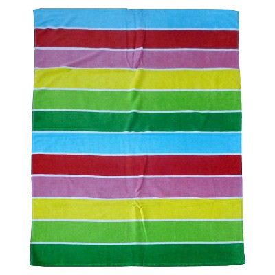 Evergreen Basics Rugby Stripes Beach Towel - Multi-Colored