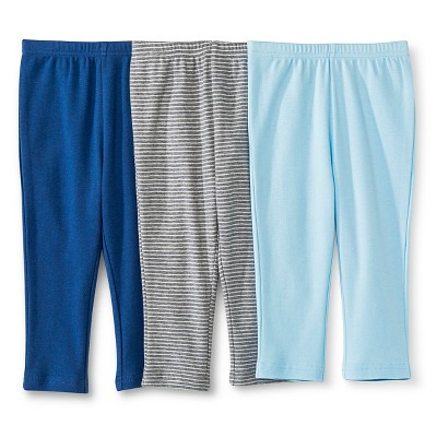 Circo™ Baby Boys' 3-Pack Trouser Pant - Blue 0-3 M