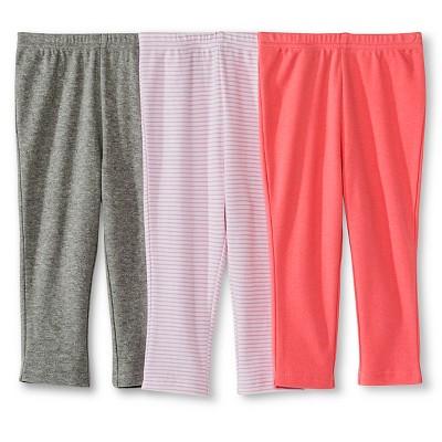 Circo™ Baby Girls' 3-Pack Trouser Pant - Pink 12 M