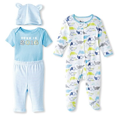Circo™ Baby Boys' Born in 2016 4-Piece Set - Blue 3-6 M
