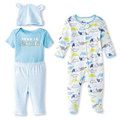 Circo™ Baby Boys' Born in 2016 4-Piece Set - Blue 3-6 M