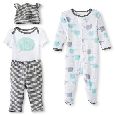 Circo™ Baby Boys' 4-Piece Set - White 0-3 M