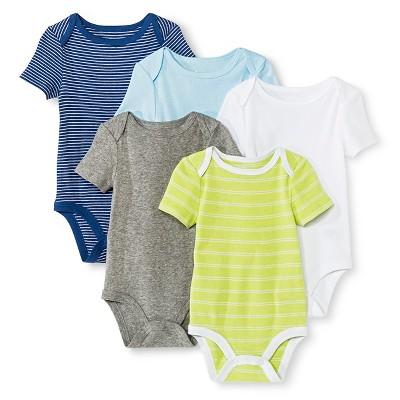 Circo™ Baby Boys' 5-Pack Bodysuit - Navy 6-9 M