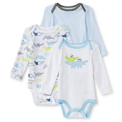 Circo™ Baby Boys' 3-Pack Alligator Bodysuit - Blue 18 M