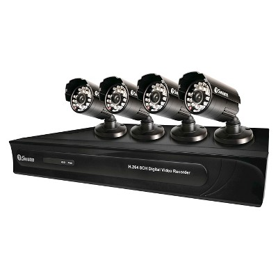 Swann 8 Channel 960H Digital Video Recorder with 4 x PRO-615 Cameras - Black (SWDVK-8325)