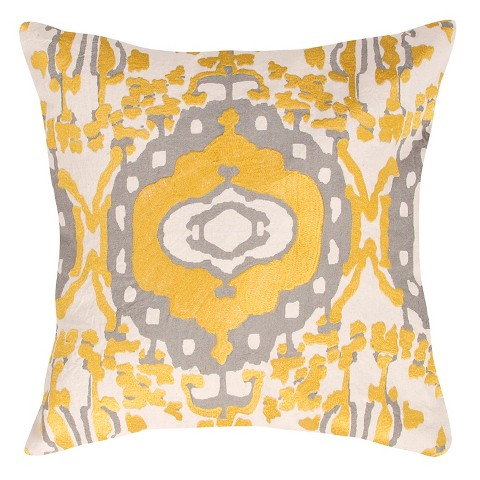 Target Throw Pillow Yellow : Jaipur En Casa By Luli Sanchez Yellow/Gray Decor... : Target