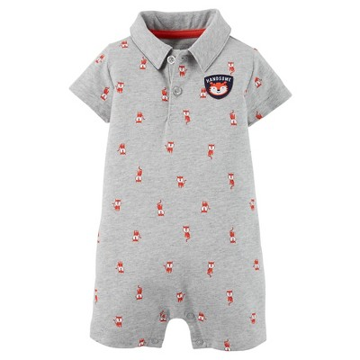 Just One You™ Made by Carter's® Baby Boys' Romper - Gray 6 M