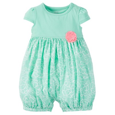 Just One You™ Made by Carter's® Baby Girls' Romper - Green 6 M