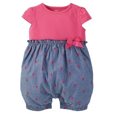 Just One Made Carter Baby Girls Romper Pink
