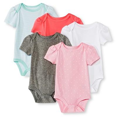 Circo™ Baby Girls' 5-Pack Bodysuit - Pink 12 M