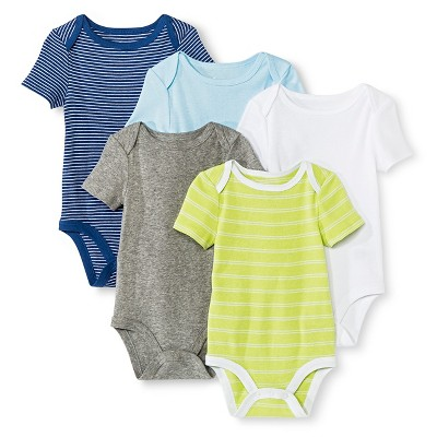 Circo™ Baby Boys' 5-Pack Bodysuit - Navy NB