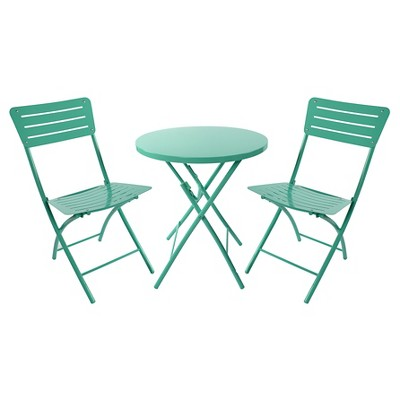 Metal Patio Bistro Set Turquoise - Room Essentials™