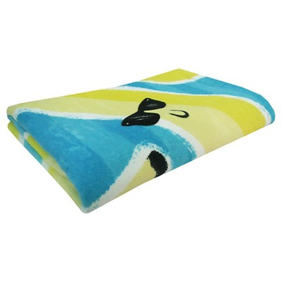 Evergreen Basics Fashion Bananas Beach Towel - Blue