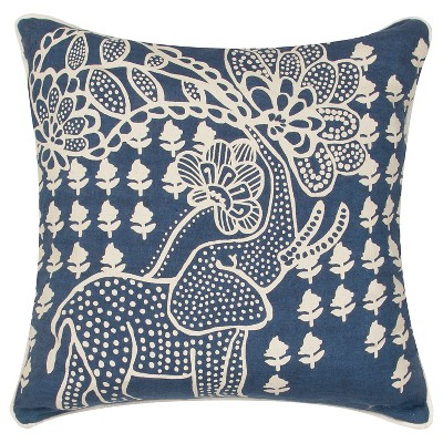 En Casa By Luli Sanchez Throw Pillow Blue & White - Jaipur