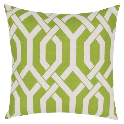 Outdoor Decorative Pillow Jaipur Green White