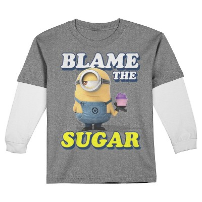 Male Tee Shirts Despicable Me Charcoal Heather 2T