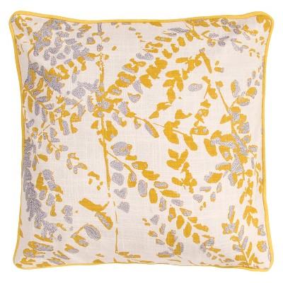 Jaipur En Casa By Luli Sanchez Yellow/Gray Decorative Pillow