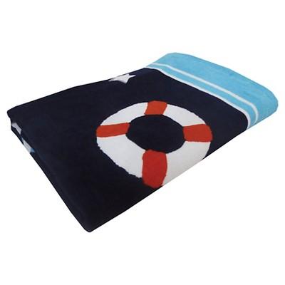 Evergreen Basics Fashion Life Preservers Beach Towel - Blue
