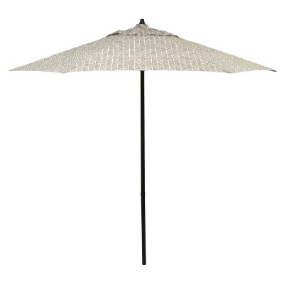 7.5' Patio Umbrella - Gray Herringbone - Room Essentials™