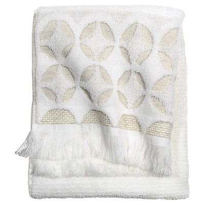 Threshold™ Tufted Tile Grid Hand Towel - White