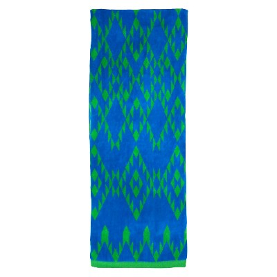 Evergreen Lux Sherpa Stripes Beach Towel - Blue (XL)