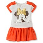 Disney Minnie Mouse Toddler Girls' T-Shirt Dress - White