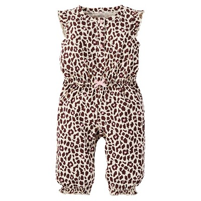 Just One You™Made by Carter's® Baby Girls' Leopard Print Jumpsuit 24M