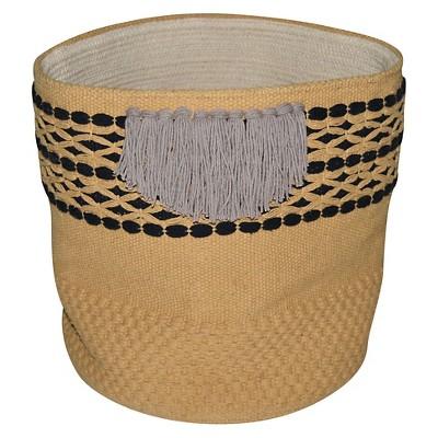 Nate Berkus Soft Woven Fringe Basket