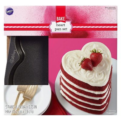 Wilton Easy Layers Heart Shaped Cake Pans - Pcs