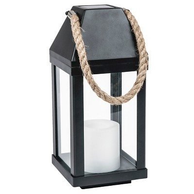 TH Solar Lantern with Rope Handle Medium